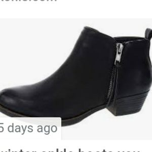 Sugar black boots Worn Once 4 m
